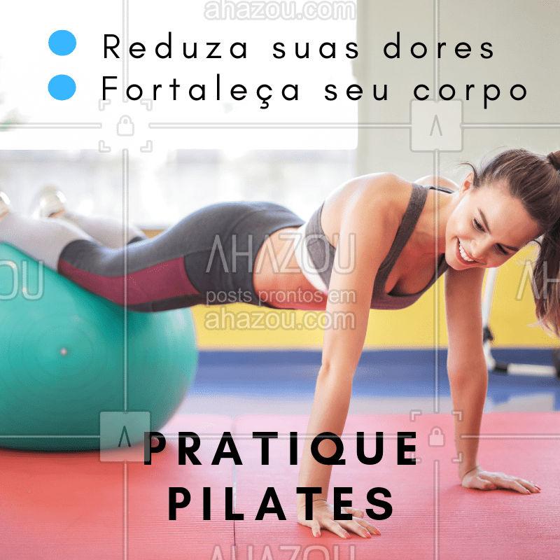 O pilates traz diversos benefícios para o corpo e mente! Sua prática frequente ajuda em questões importantes como: respiração, postura e dores musculares. Pratique! #pilates #ahazoufisioterapia #fisioterapia #exercicios