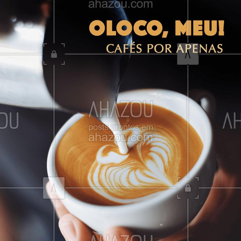 Não vai perder essa promo né? ? Se vira nos trinta e vem saborear um cafézinho! #cafe #ahazoutaste #promoçao #cafeteria
