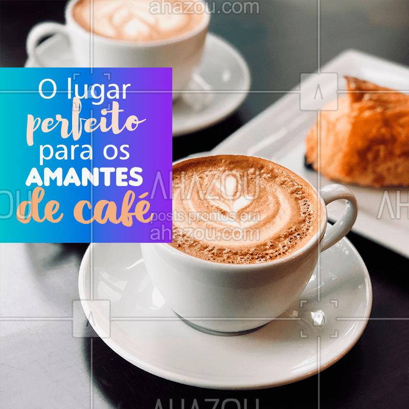 Nosso espaço é uma parada obrigatória para os amantes de café! Venha tomar um cafezinho! ☕ #cafe #ahazoutaste #cafeteria