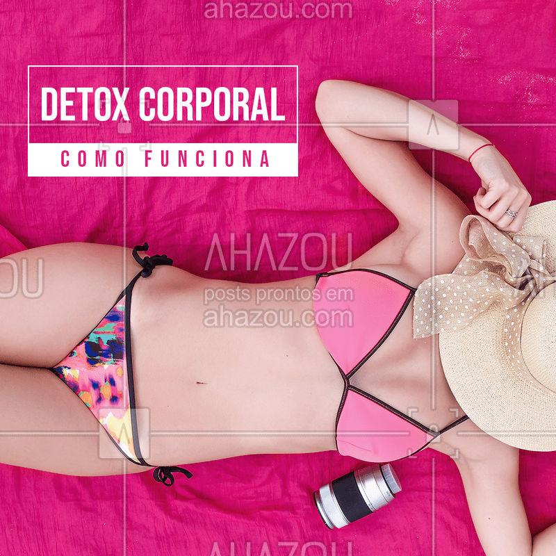 O Detox corporal é um programa estético que reúne técnicas que ajudam a desintoxicar o organismo e reduzir medidas e já nas primeiras sessões pode-se obter resultados favoráveis. #detoxcorporal #ahazou #esteticacorporal