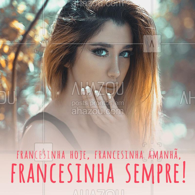 Você também faz parte do time das apaixonadas por francesinha? ❤ Agende seu horário!  #francesinha #manicure #bandbeauty #ahazou