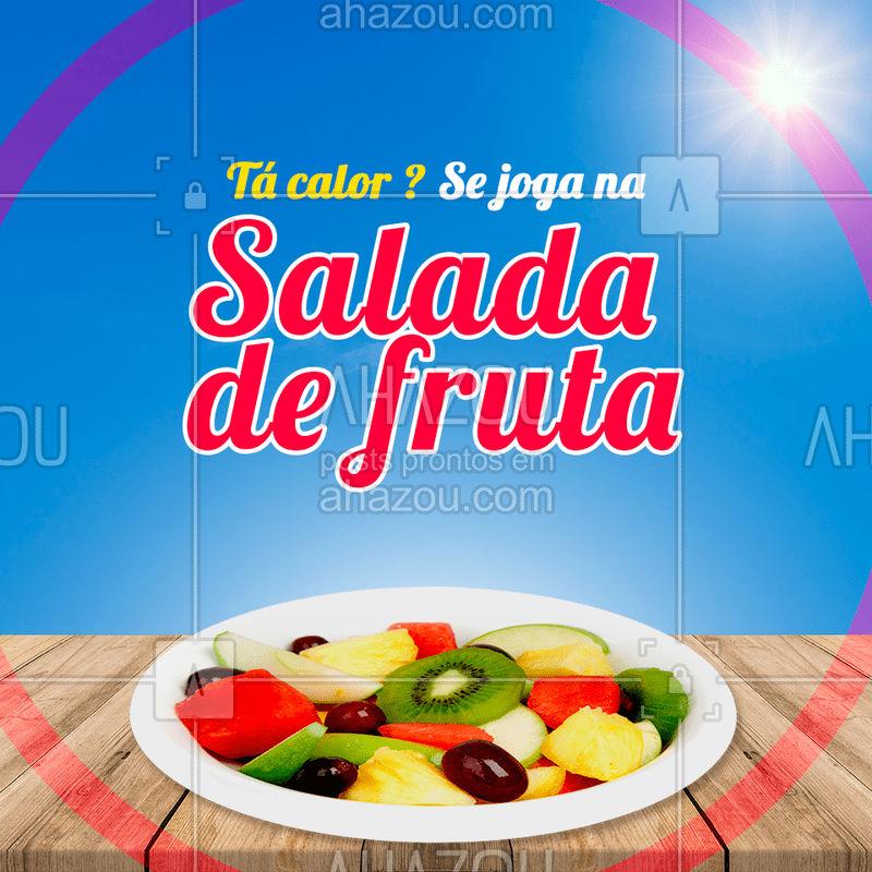 Quem aí também ama? ? #saladadefruta #ahazou #fruta #frutaria #feira #ahazoualimentacao