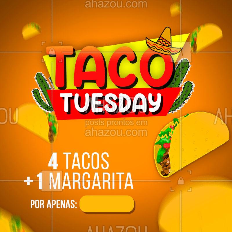 Comece o happy hour mais cedo! Venha provar o melhor da gastronomia mexicana. #mexican  #ahazou  #comidamexicana  #mexicano  #tacotuesday  #taco  #margarita