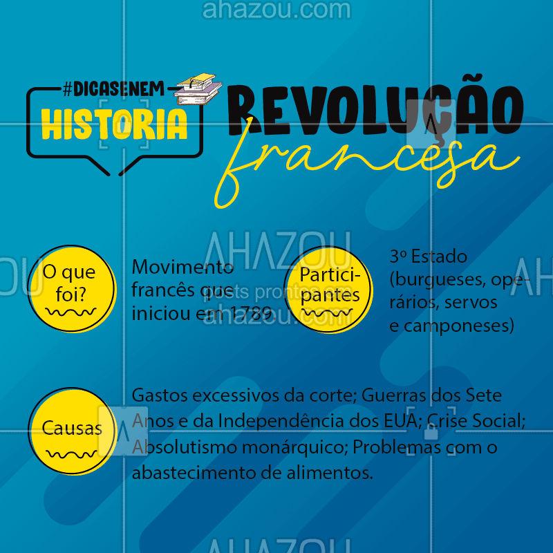 Revolução Francesa ?✔ #RevoluçãoFrancesa #História #AhazouEdu #DicasEnem #Vestibulares