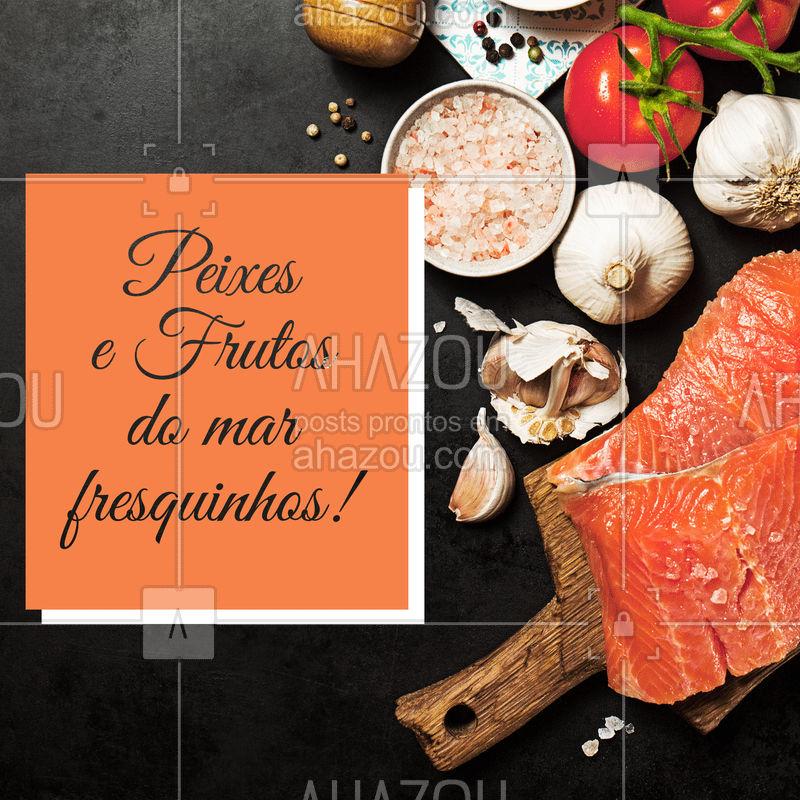 Temos diversas opções de peixes e frutos do mar totalmente frescos para você. Faça já o seu pedido! #peixes #frutosdomar #ahazou #ahazougastronomia #seafood #fish