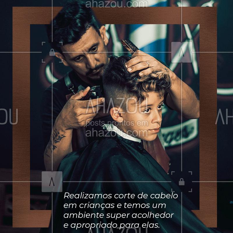 Nós cortamos cabelos de crianças e o nosso ambiente é muito acolhedor e apropriado para elas. Entre em contato e agende o horário para deixar o seu filho ainda mais lindo. #agendamento  #AhazouBeauty #cortekids #corteinfatil