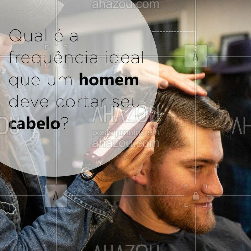 Se você não quer perder o corte, o ideal é dar uma passada no barbeiro a cada 15 ou 20 dias para fazer a manutenção do cabelo. Agende seu horário! #cortedecabelo #ahazou #barbeiro