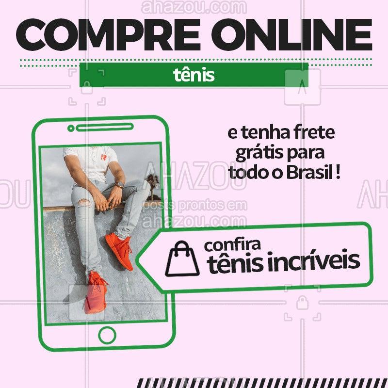 Venha aproveitar comprando online um ou mais tênis a cima do valor de (R$             )  tenha o frete totalmente grátis para o brasil inteiro! Você não vai perder essa oportunidade não é mesmo? #Tenis #Ahazou #FreteGrátis