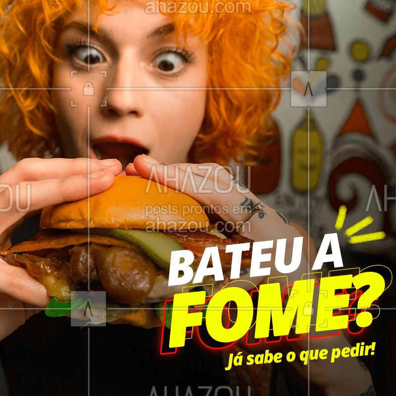 Quando a fome aperta, não há dúvidas. Peça seu hamburguer favorito! ??  #hamburguer #burger #lanche #comida #ahazou