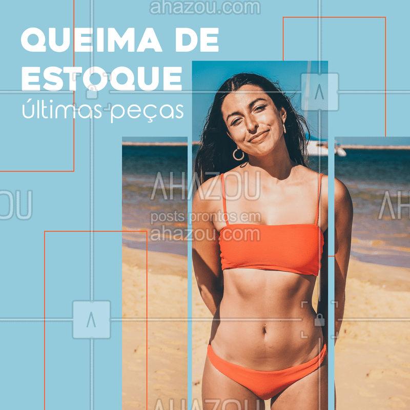Vem enquanto ainda tem peças, nossa queima de estoque ta com precinhos especiais ???  #estoque #biquínis #maiô #ahazou #moda #praia #piscina #sol #mar #calor
