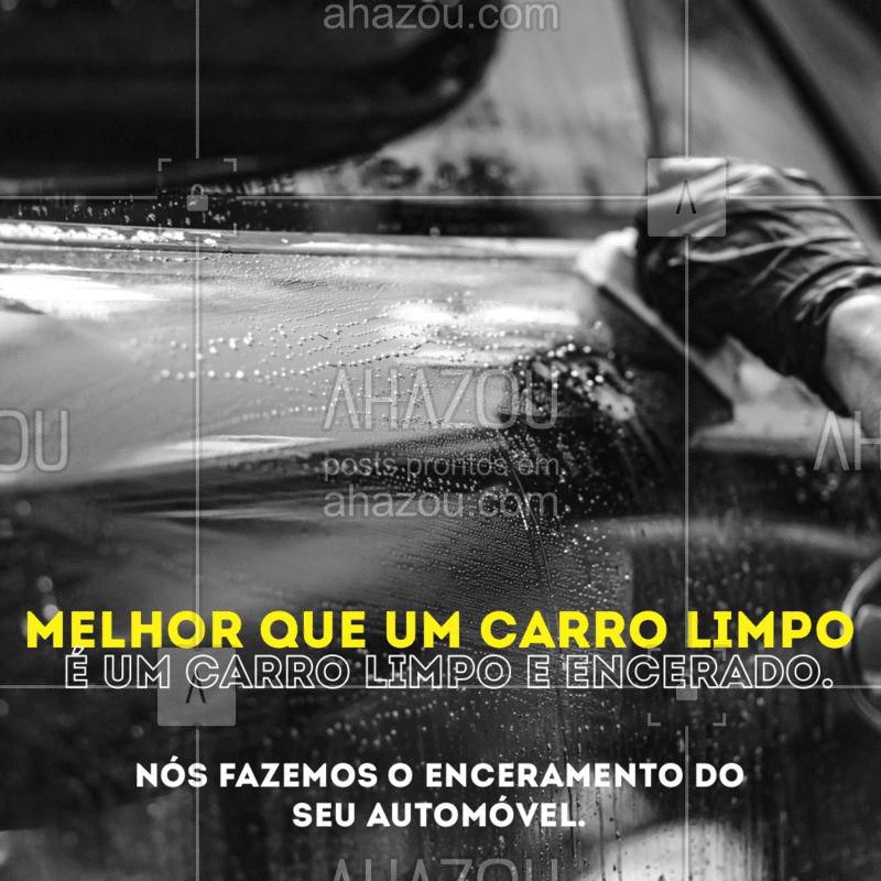 Encerar o carro não é só uma questão estética. A cera cria uma cama fina de proteção protegendo a pintura do seu automóvel. Venha já trazer o seu automóvel para ser encerado. #enceramento  #AhazouAuto  #esteticaautomotiva #lavajato