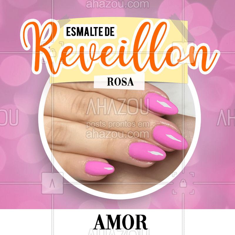 Pra você que deseja muito amor em 2020, o esmalte rosa é a aposta ideal pra você usar na virada ?  #2020 #anonovo #significadodascores #bandbeauty #reveillon #ahazou #esmalte #nails #naildesign #colors #cordereveillon
