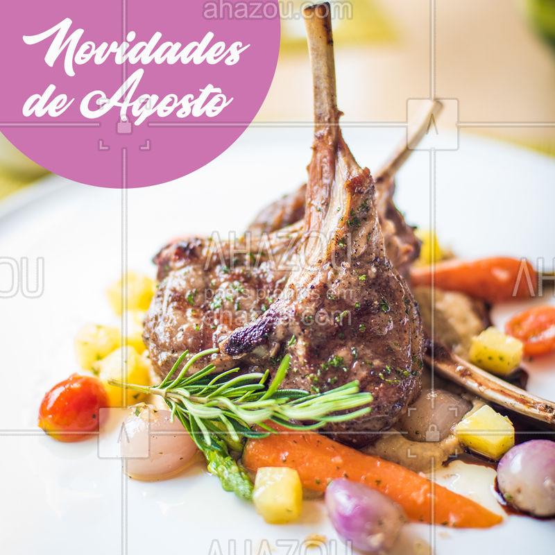 Fique atento às novidades do mês de agosto. Vem aí mais uma deliciosa maneira de matar a sua fome! ? #novidade#ahazoutaste #agosto #gastronomia