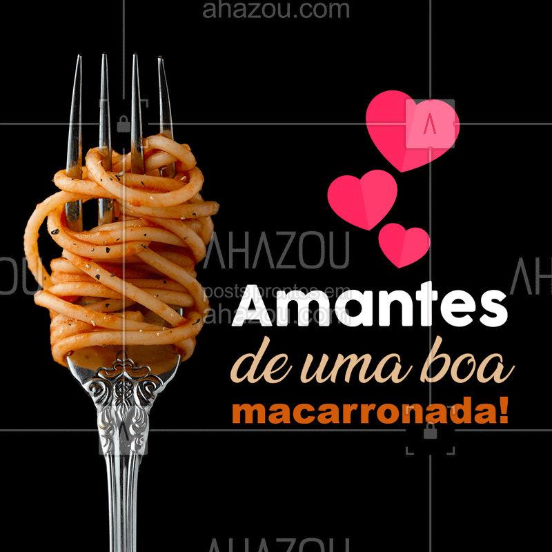Quem ama uma boa macarronada levanta a mão ??♀??♀??♀ #macarrao #pasta #amomacarronada #macarronada #comidaitaliana #ahazou