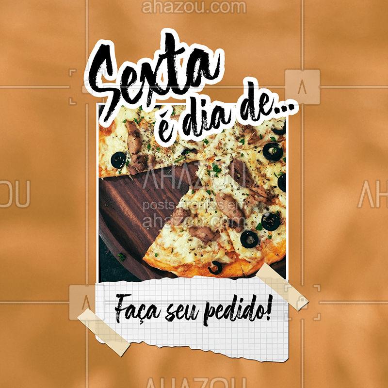 Como diz o ditado: Uma imagem vale mais que mil palavras ? Faça já o seu pedido pra sextar da melhor forma ?  #pizza #sextou #ahazou