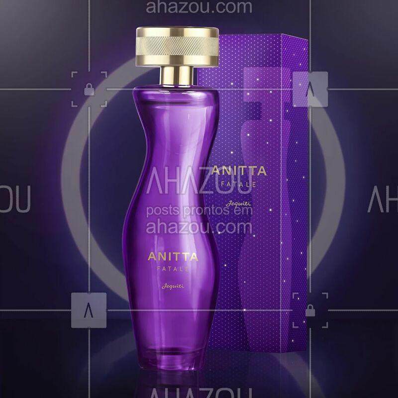 Tem belas curvas, é marcante e sensual...O novo perfume da Anitta é uma criação de sensualidade delicada e provocante ao mesmo tempo. Anitta Fatale é envolvente, romântico e sensual na medida certa. ⠀ ⠀ #Anitta #AnittaFatale #ahazoujequiti #PerfumeDaAnitta ⠀