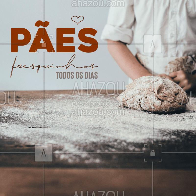 Aqui a gente faz pão fresquinho todos os dias para  garantir um bom alimento para você e sua família  ???  #pão #padaria #ahazou #fresquinho #fabricação #forno #quentinho
