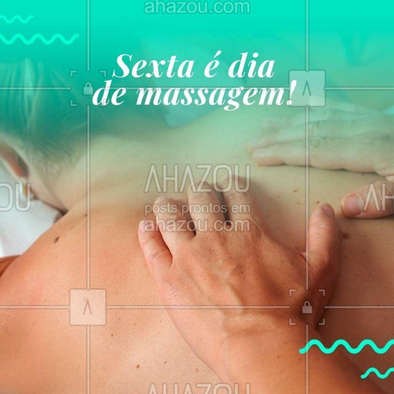 Venha relaxar e se preparar para curtir o fim de semana plena e livre de dores. Você merece! ? #massagem #massoterapia #ahazou #sextafeira