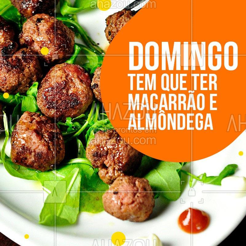 Domingo é dia de almoçar na Nonna e claro, com uma bela macarronada e deliciosas almôndegas, bravooo! #ahazou #macarrao #domingo #almoco