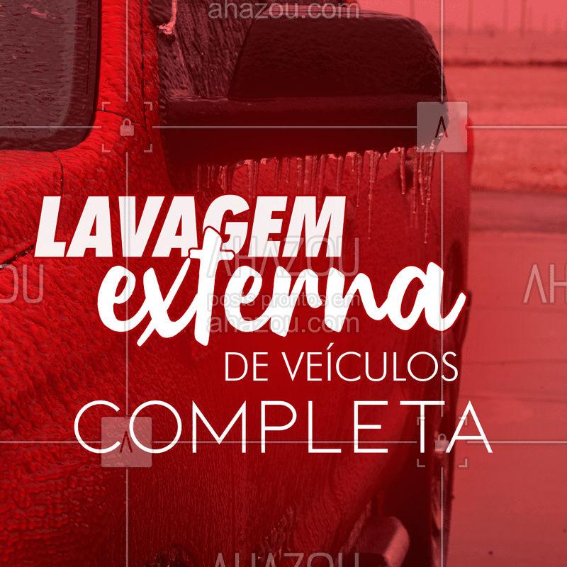 Por um preço especial, fazemos lavagem externa de veículos completa! Que tal?  #Lavagem #AhazouAuto #Veículos