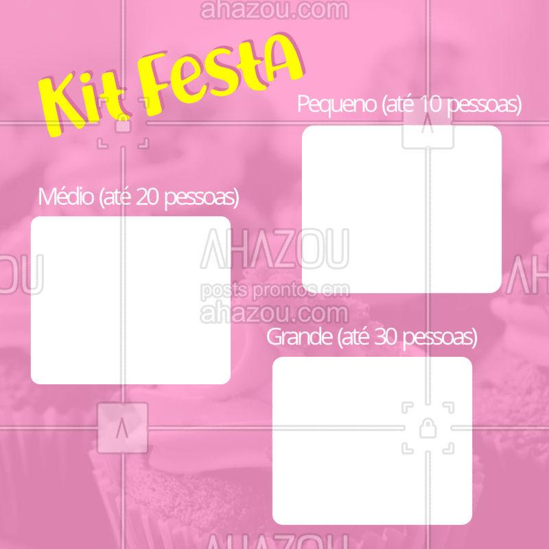 Encomende já o seu Kit Festa, temos Kit para todo tipo de festinha! ? #aniversário #ahazoutaste #kitfesta #festa #bolo