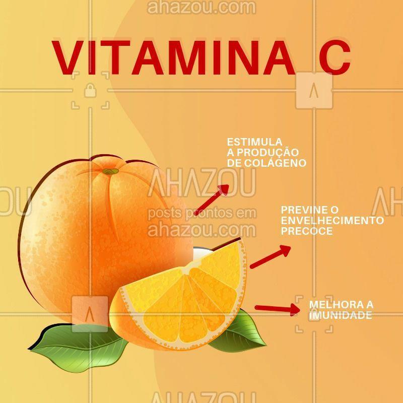 A vitamina C é fantástica para auxiliar no cuidado da pele! Olha só os benefícios dessa vitamina tão importante. #vitaminac #ahazou #esteticafacial