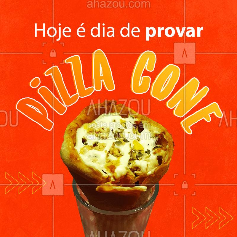 Se você ainda não provou essa iguaria culinária, hoje é o dia! ? Peça já a sua! ?  #PizzaCone #Pizzaria #ahazoutaste  #pizza #pizzalovers
