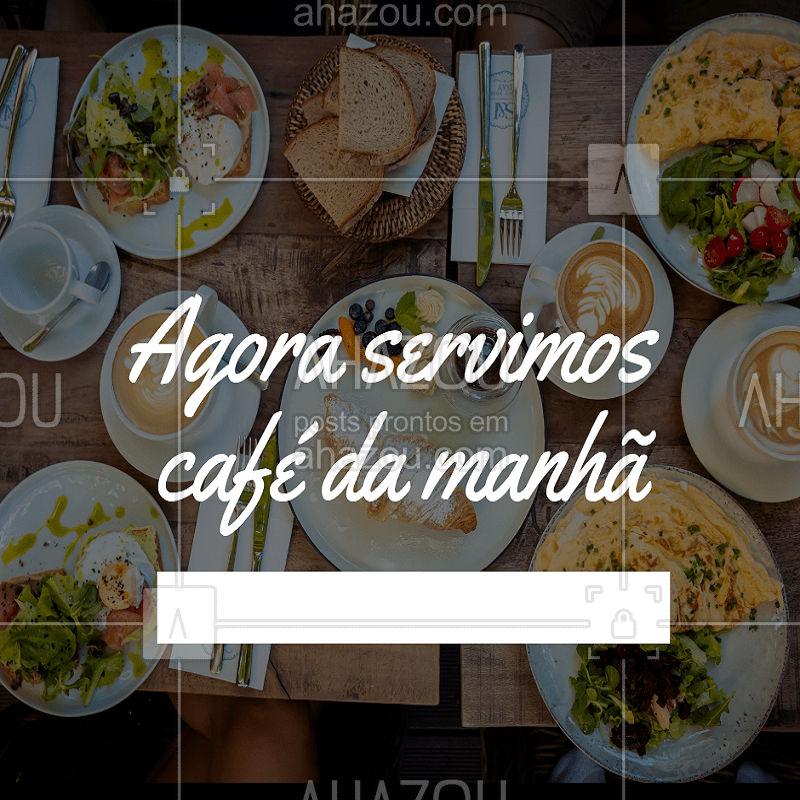 Novidade! Agora temos variadas opções para seu o café da manhã. Venha experimentar!  #gastronomia #cafe #ahazoutaste #cafedamanha