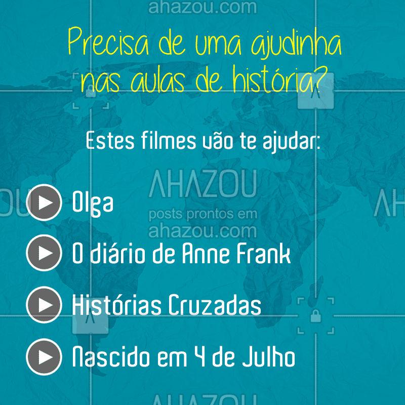 Aproveite seu tempo livre para aprender de uma forma mais descontraída #AhazouEdu #aprendizado #história #filmes #estudo