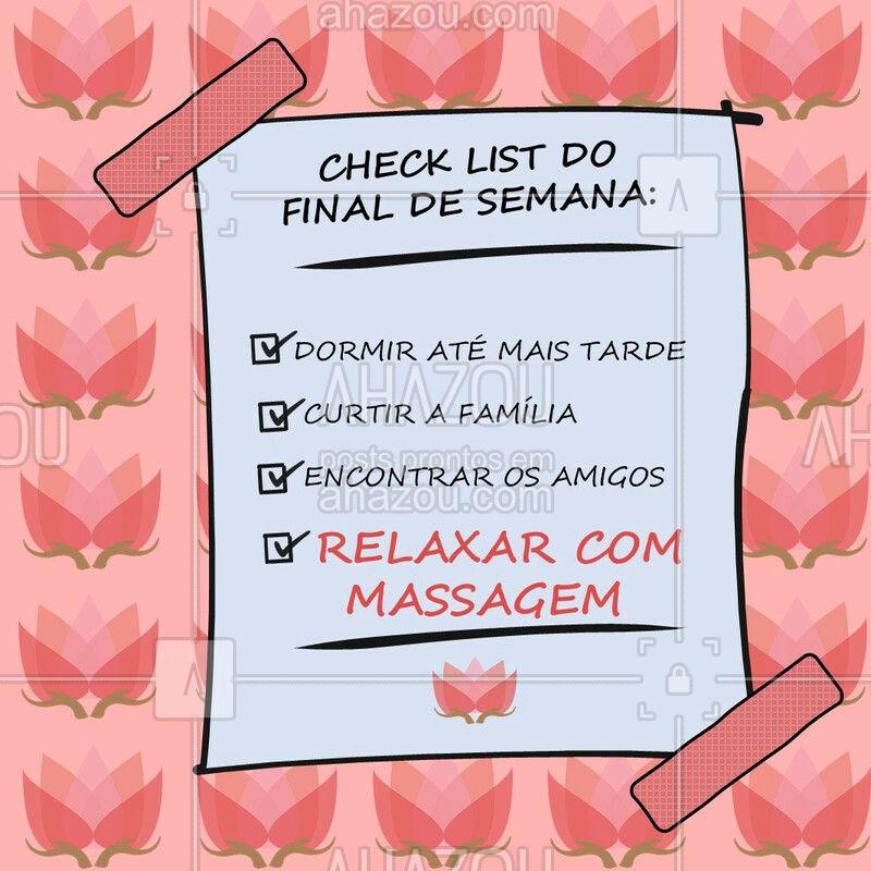 Uma boa massagem é pode transformar o seu dia! ✨ Agora me contem, quais são os planos de vocês para este fim de semana? ? #massagem #ahazou #massoterapia #relax #fimdesemana