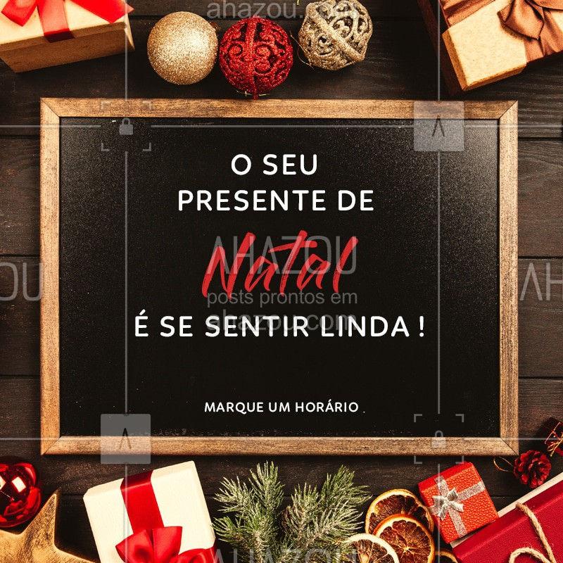 Sabe aquele presente que você merece?  Ele está aqui <3 Fique linda no Natal. #Beleza #Ahazou #Natal