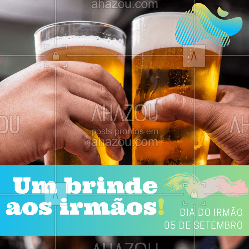 Bora comemorar este dia com um brinde especial? ? Marque o seu irmão(ã) aqui nos comentários e venham tomar uns bons drinks com um desconto de 10%! #diadoirmao #ahazoutaste #bares #promocao
