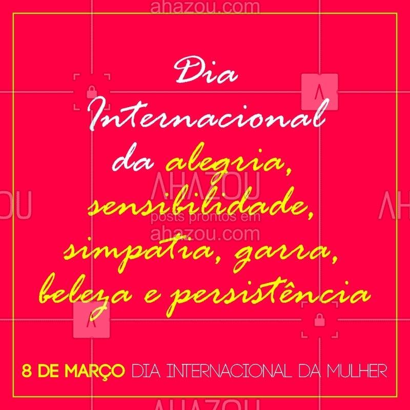 Feliz dia das mulheres! #ahazou #ahazoubeleza #womansdayahz