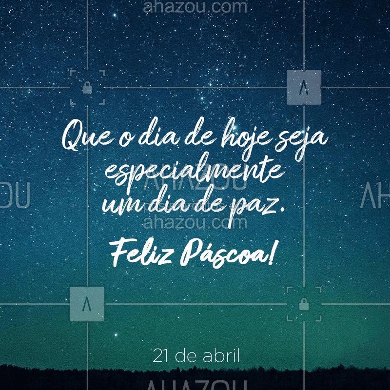 É o nosso desejo a todos os nossos clientes. Feliz Páscoa! #pascoa #ahazou #felizpascoa
