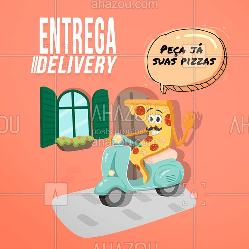 Melhor do que comer uma boa pizza, é comer uma boa pizza em casa com Netflix! Já pediu a sua? #pizza #ahazoutaste #pizzaria