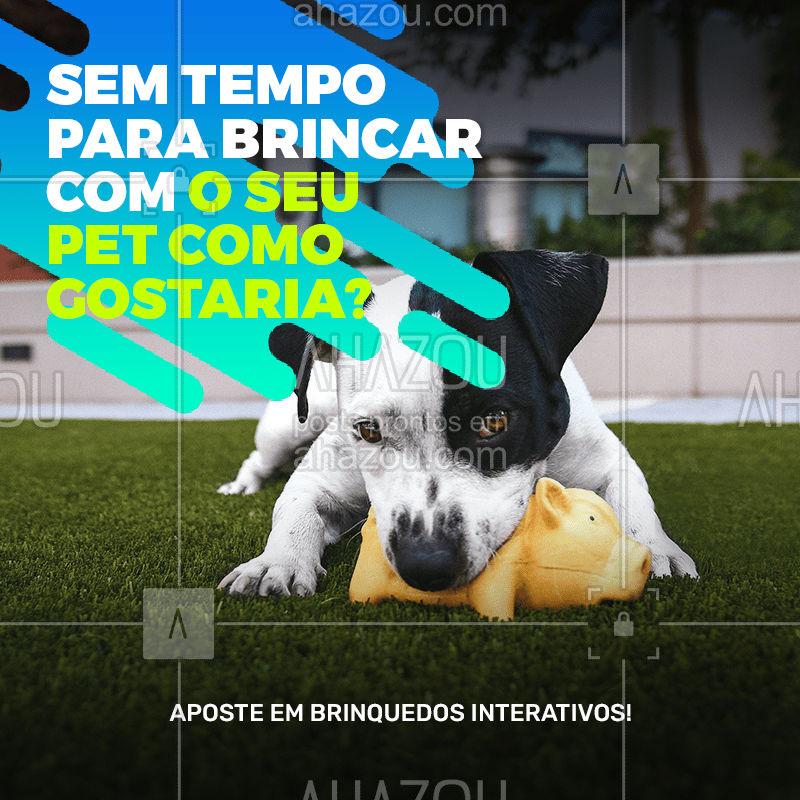 Os brinquedos interativos são ótimos para o seu pet brincar sozinho. Estimulantes, eles costumam pular, ter petiscos escondidos ou fazer sons divertidos, estimulando a curiosidade do animalzinho.  #brinquedointerativo #pet #brincadeiras #AhazouPet  #dogdaycare #doglover #petsitting