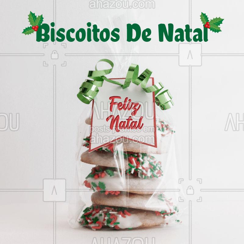 Temos biscoitos especiais para o Natal e para as Festas de Fim de Ano! #biscoitosdenatal #natal #ahazou #biscoitos