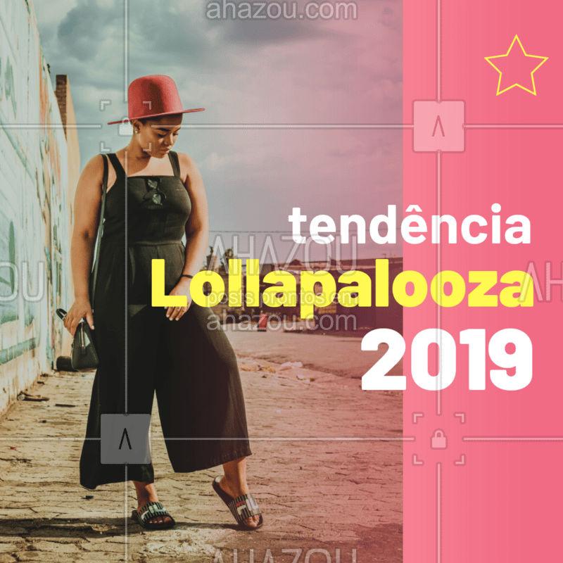 Uma das tendências para o festival que acontece em São Paulo é o macacão, peça que voltou a ganhar destaque e está muito presente no dia-a-dia também! #tendencia #lolla #ahazou #dica #macacao