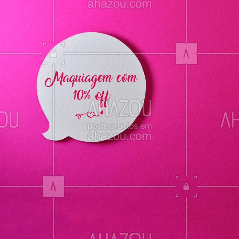 Aproveite esse desconto e agende o horário da sua make! ? #maquiagem #ahazou #makeup