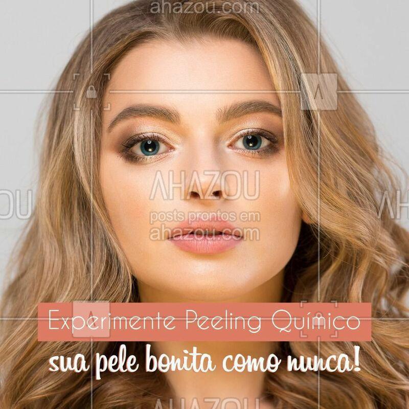 Os principais benefícios do peeling químico incluem: • Redução das cicatrizes de acne e de acidentes; • Renovação das camadas de pele; • Redução das manchas de idade ou sol; • Eliminação de rugas e linhas de expressão.  #peeling #peelingquimico #tratamentofacial #pelelisinha #ahazou #beleza #estetica #peleperfeita #autoestima