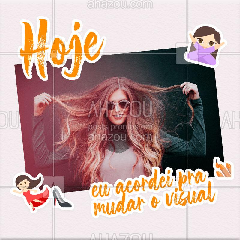 É essa determinação que a gente ADORA!  Agende já o seu horário  e vem mudar de visual? #visualnovo #cabelo #ahazou