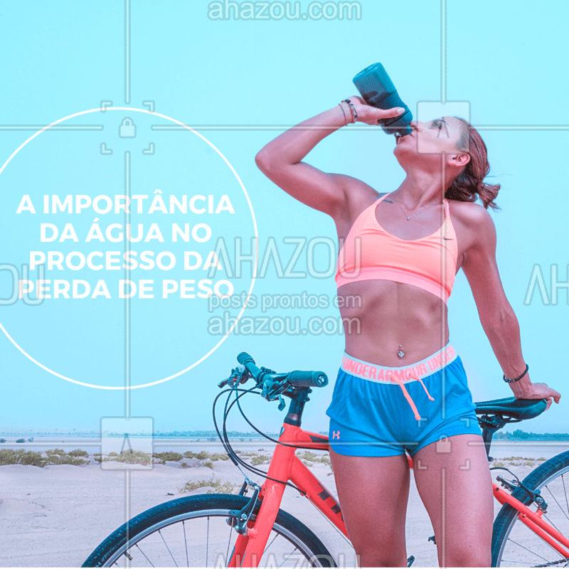 Nada melhor do que uma dica pra te impulsionar na dieta: Beba bastante água. Ela dá sensação de saciedade, equilibra seu corpo para que seu cérebro entenda se você está com sede ou com fome, diminui inchaço e retenção de líquido, além de liberar as toxinas do corpo #dicas #ahazousaude