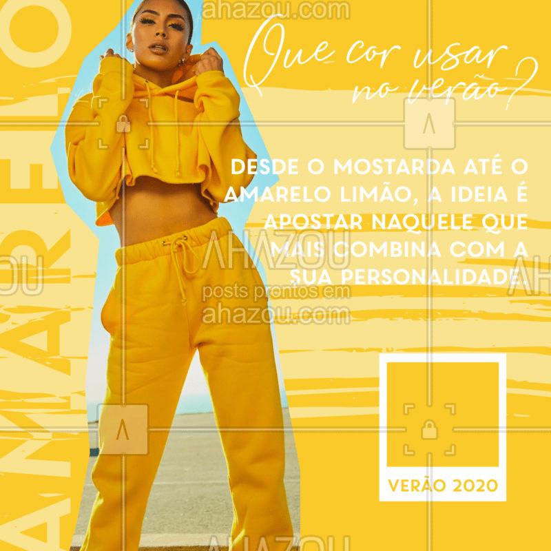 Quer está por dentro da tendência do verão 2020? Então aposte nas cores da estação!  #moda #verão #ahazou #cores #look