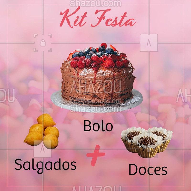 Hoje vai ter uma festa ?? Faça já a encomenda do seu Kit Festa! #kitfesta #ahazoutaste #aniversário #festa
