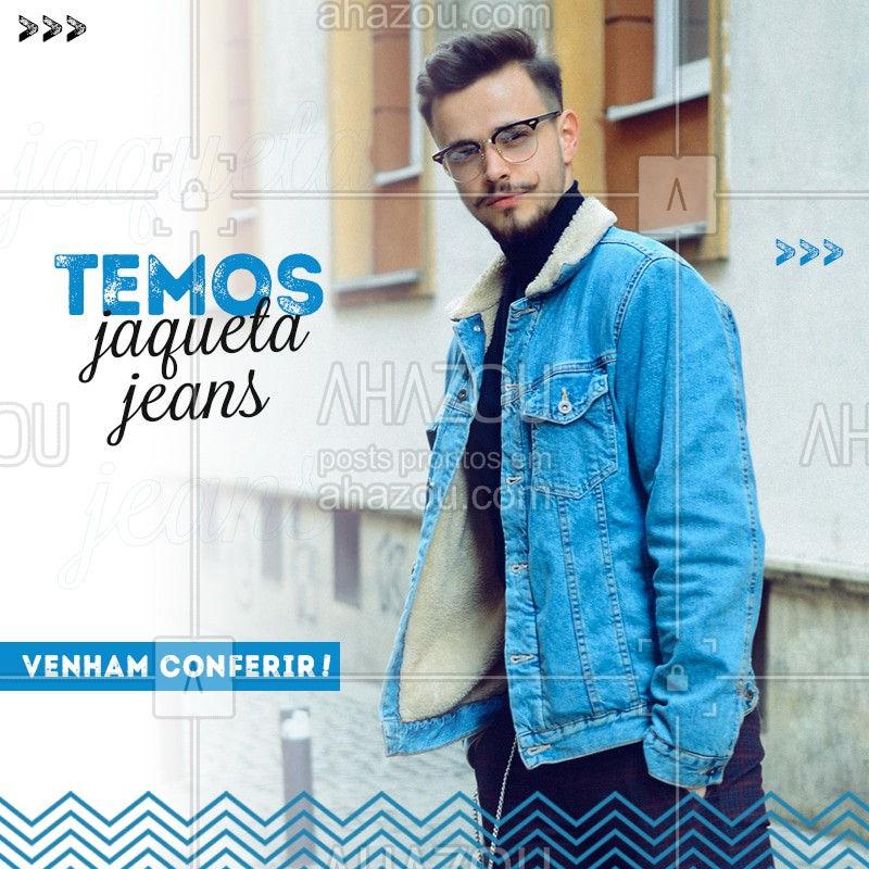 Quer ser estiloso de verdade? Então você precisa de uma jaqueta jeans bem estilosa, venham conferir! #ModaMasculina #Ahazou #Jaqueta