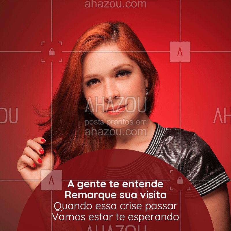 Não precisa cancelar o seu horário. Podemos remarcar sem nenhum problema. ?  Essa crise vai passar e vamos estar te esperando. ?  #salaodebeleza #beauty #coronavirus #covid-19 #Ahazou