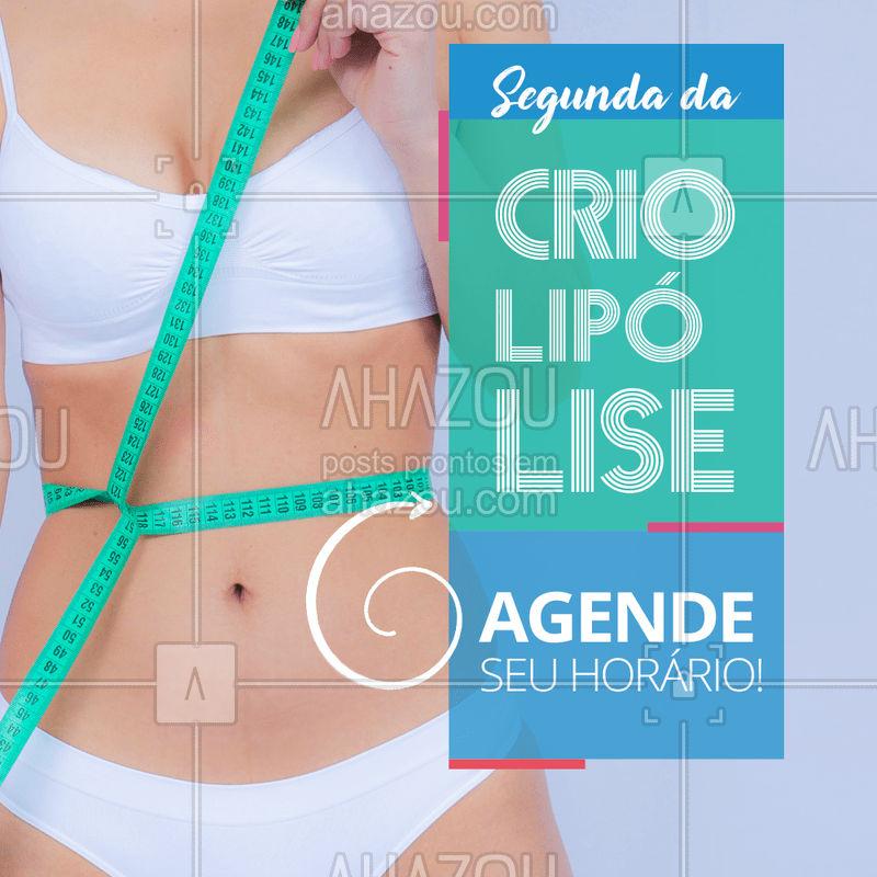 A melhor maneira de começar a semana é congelando as gordurinhas! Não fique de fora e agende o seu horário agora mesmo! ? #criolipolise #segunda #ahazou #crioday