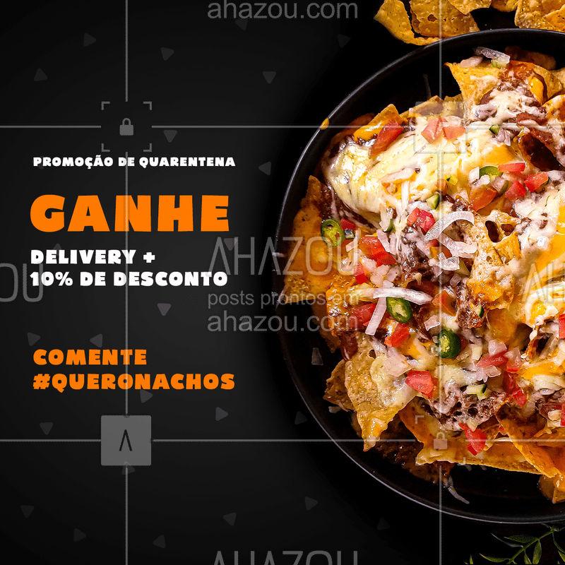 Nachos deliciosos na porta da sua casa. Posso anotar o seu pedido? ?  #promoção #nachos #quarentena #Ahazoutaste