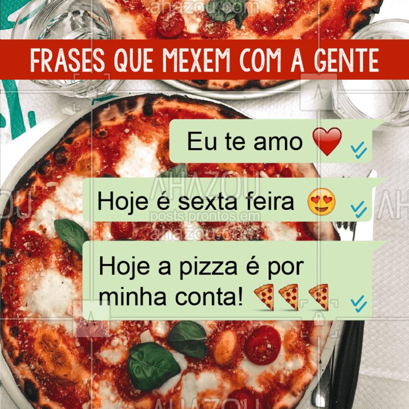O olhinho chega a brilhar! ?? #pizza #pizzaria #ahazou #engracado