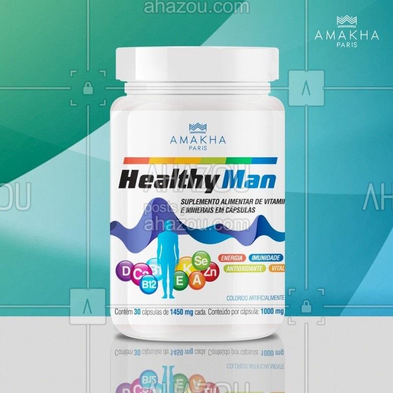 Cuidar da saúde não tem idade e pode ser feita em conjunto. Aproveite que a Amakha Paris tem produtos pensados para homens e mulheres, como o Healthy Man e Healthy Woman, que são polivitamínicos que atendem às necessidades nutricionais. Tenha uma vida mais saudável! #ahazourevenda